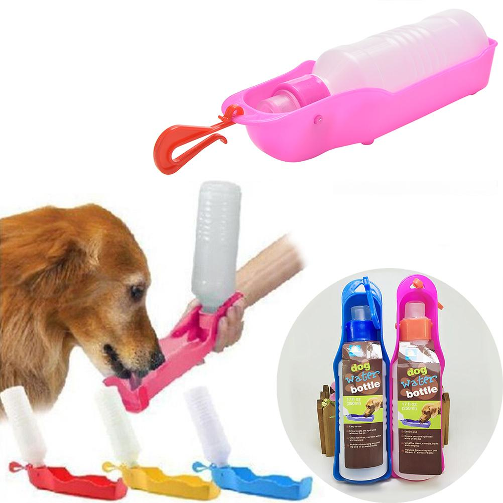 250ml Foldable Pet Dog Water Bottle Outdoor Travel: 1PCS 250ML Dog Feeders Plastic Foldable Pet Dog Cat Travel