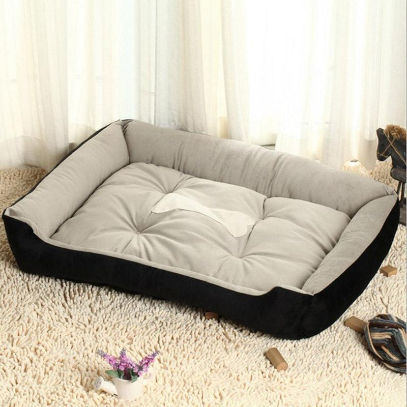 1PCS Dog Beds for Large Dogs Mat PP Cotton Dog Supplies Pet Bed Blanket Soft Warmth Bed House Black Brown Dogs Beds