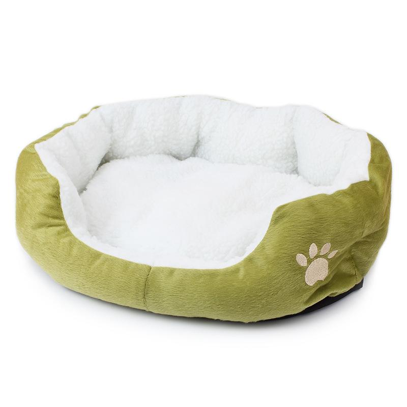 1PCS Puppy Multi Color Blue Pink Fashion Kennel Pet House Soft Warm Bed Dog Beds Dogs Mat Cashmere Cat Sofa Supplies