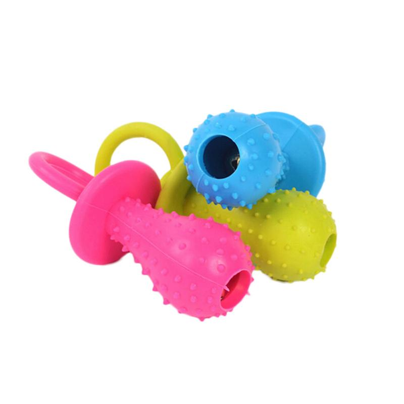 1PCS Rubber Nipple Cats Dogs Toys Bouncy Non-toxic Chew Durable Tough Interactive Bite Training Supplies Random Color