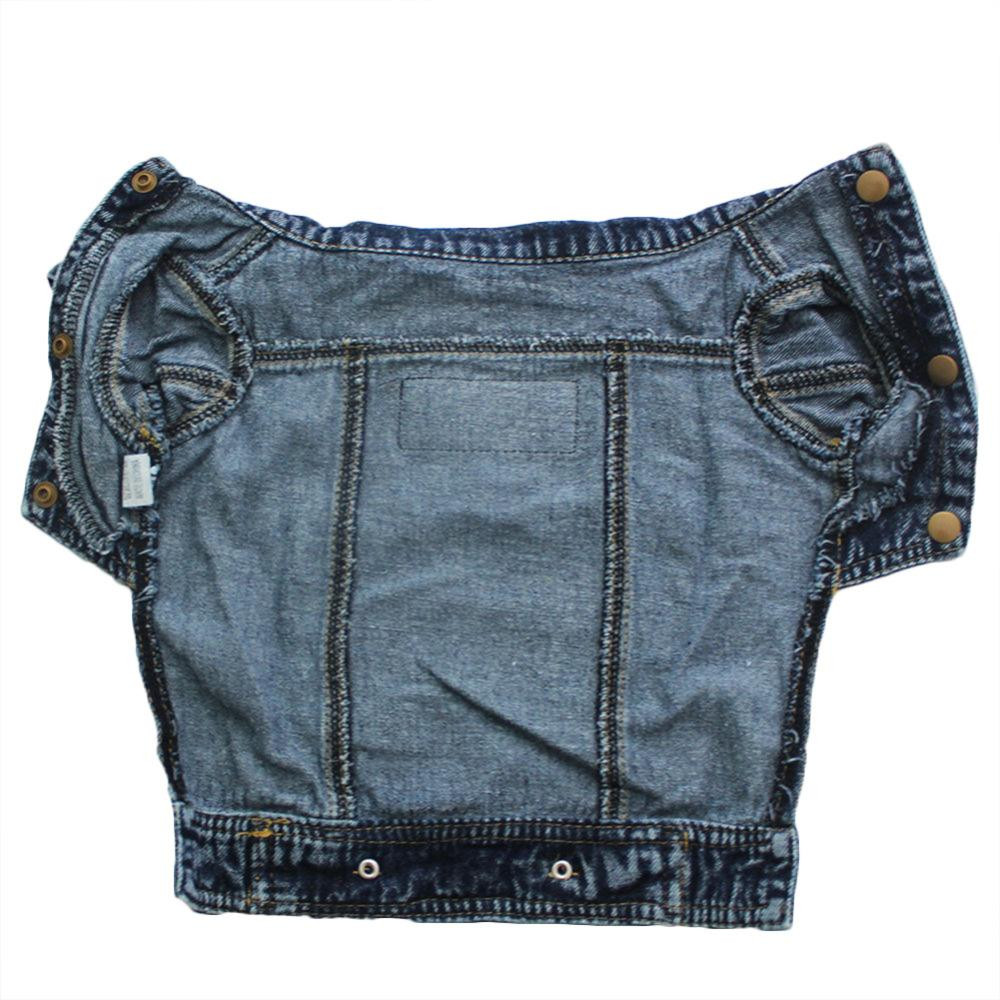 1Pc 5 sizes Clothes For Dogs Denim Dog Vest Jacket Clothing Pet Cat Jeans Coat Dog Clothes For Teddy Chihuahua Puppy Supplies