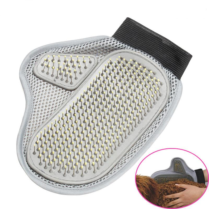 1Pc Dog Hair Cleaning Brush Comb Massage Bath Glove Tools For Dogs Cat Grooming Pet Accessories Products 3 Style