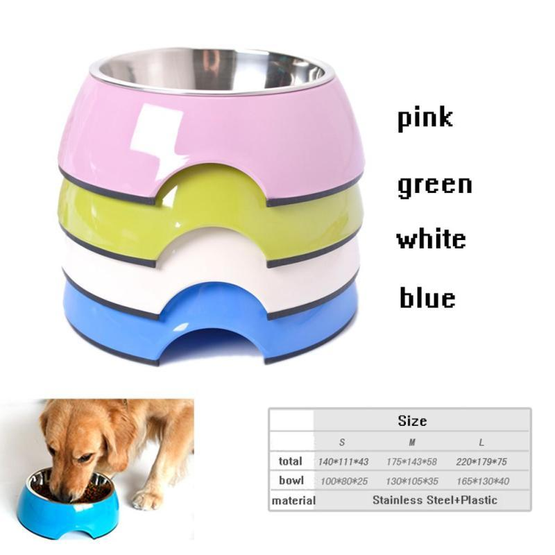 1Pc Stainless Steel Pet Dry Food Cat Bowls for Dogs Feeding Dog Bowls 3 Size Drinking Water Fountain Pet Dog Dish Supplies #40