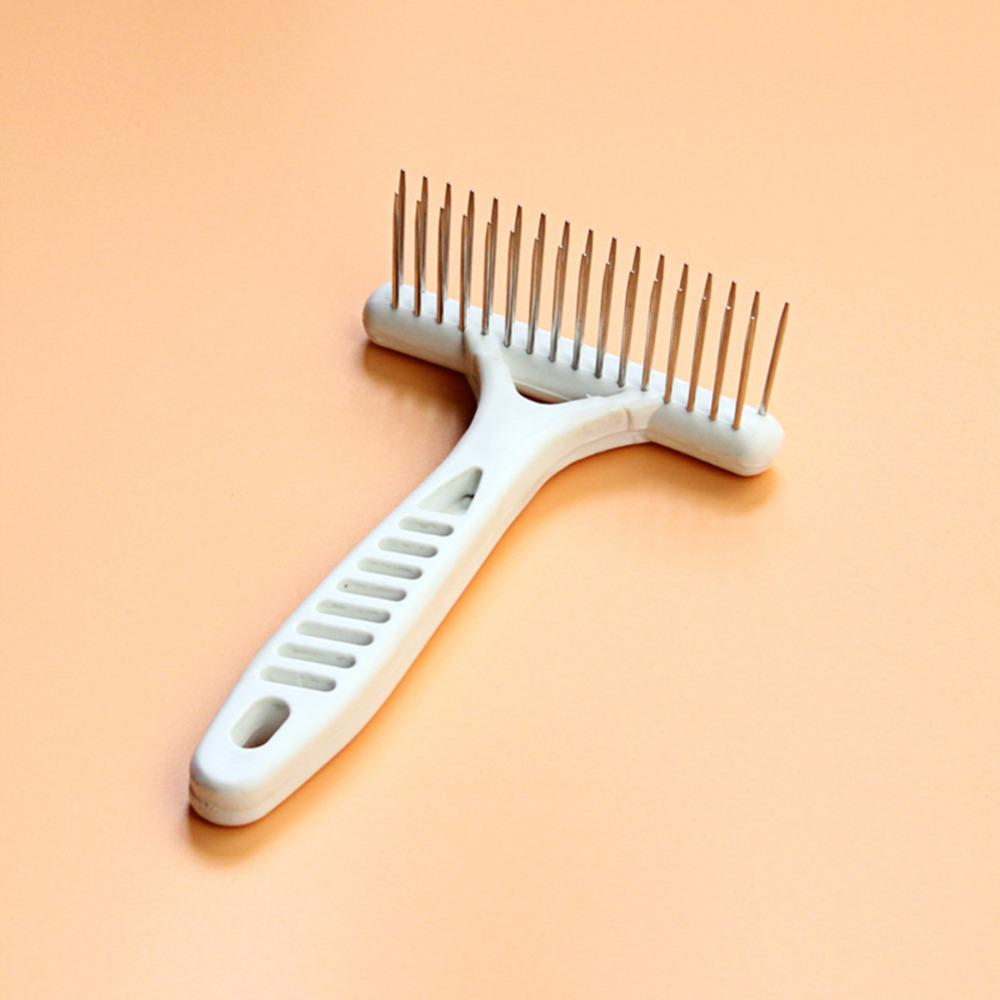 1Pc White Grooming Rake Pet Comb Dog Hair Remover Brush Grooming Tools Comb Hair For Pet Supply