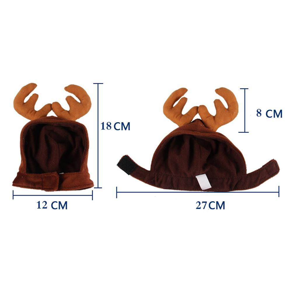 1Pcs Headbands Dog Antlers Cap Pet Supplies Dog Cat Hat Deer Hats Teddy Dog Antlers Dog Gentleman Caps  Costume 0210