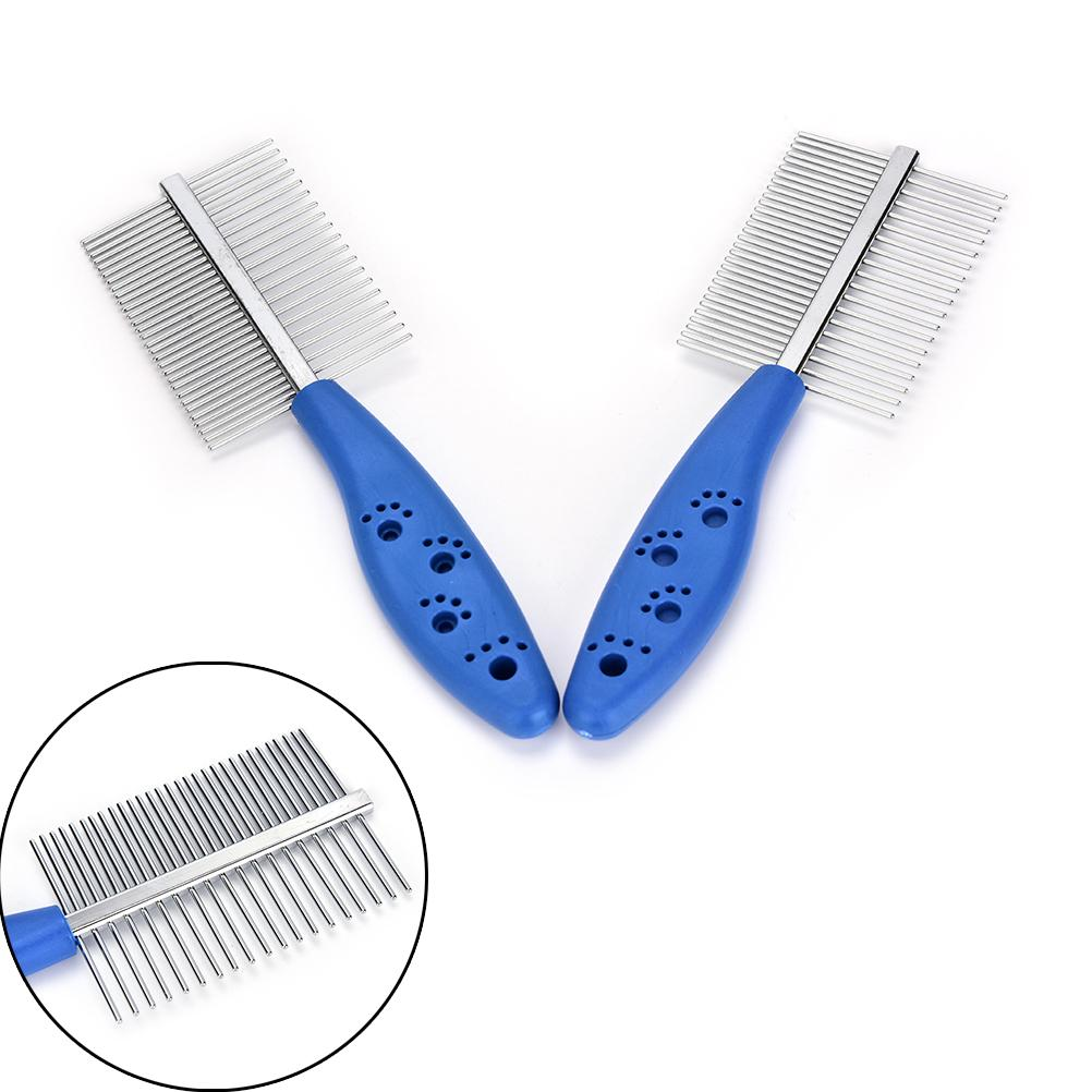 1Pcs Stainless Steel Pet Dog Cat Combs Long Thick Hair Fur Shedding Remove Rake Comb Pet Grooming Brush