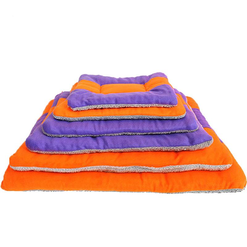 1Pcs Warm Soft Kennel Pet Dog Mat Cushion Winter Mat Puppy Blanket Pet Cat Bed Dog House Mat For medium Cat Dog Bed cama perro