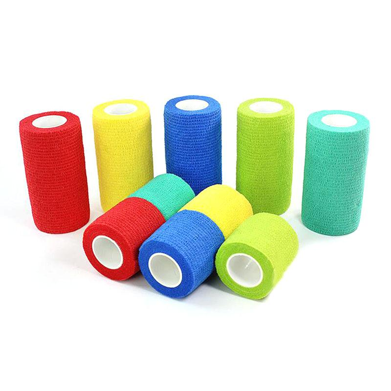 1Roll Flexible Cohesive Pet Bandage Medical Elastic Bandage Vet Tape Wrap 4 Size