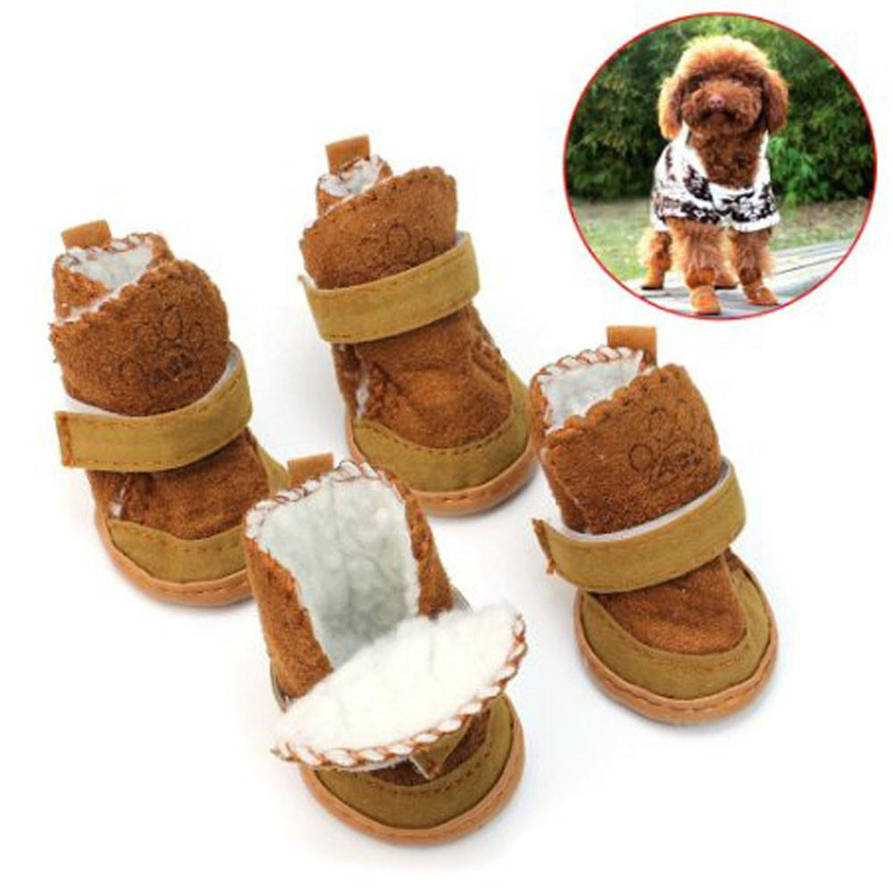 1Set 1/2/3/4/5 Dog Shoes Boot Waterproof Anti-Slip Pet Shoes Boot Classic Warm Dog Shoes BW1/2/3/4/5