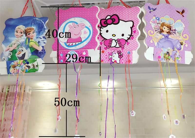 1pc 40*30cm paper folding pinata Puppy Canine Dog 6 people play game Dog Kid Boy Birthday Party supplies Cartoon Decoration