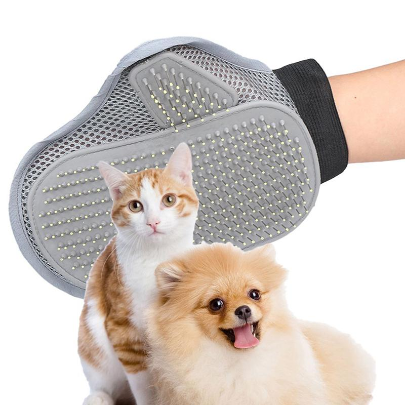 1pc Comfortable Pet Animal Grooming Glove Dog & Cat Comb Brush for Medium to Long Hair Relax Muscles Pet Bath Cleaning Brush