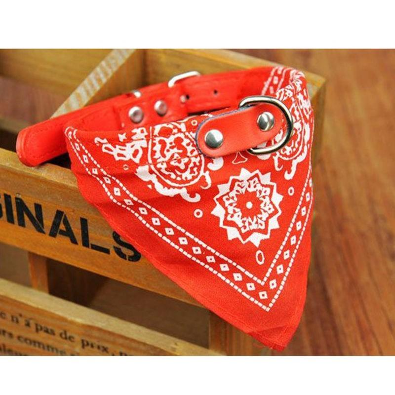 1pc Dog Neck Triangular Bandage Collar Adjustable Scarf Pattern Print Bandaga Collar Neckerchief Pet Products Supplies