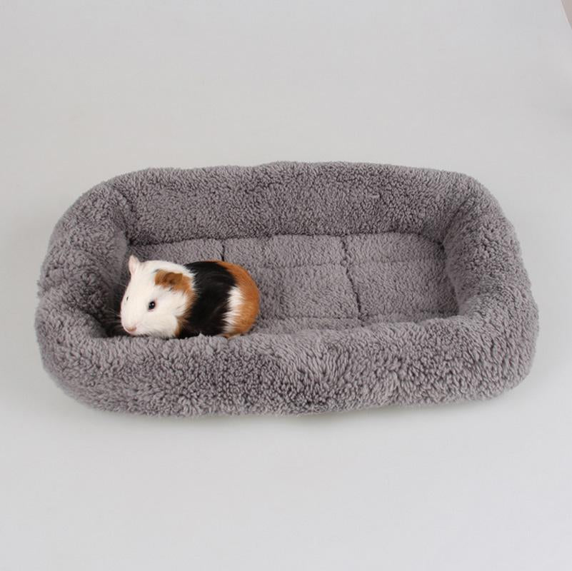 1pc High Quality Square Shape Warm Soft Plush Small Dog Puppy Rabbit Cat House Sleeping Bag Kennel Mat Cat Bed Scratch Resistant