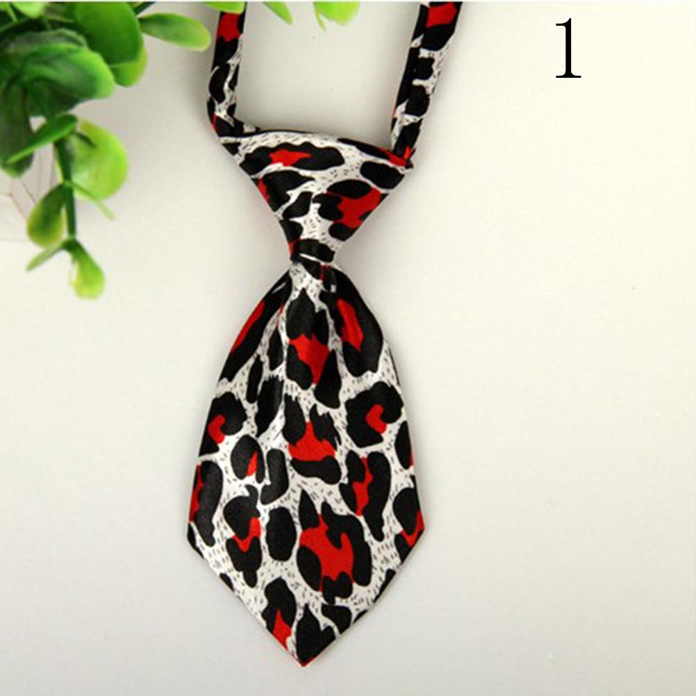1pc Lovely Adjustable Cute Print Adjustable Pet Decorative Collars Dog Tie Pet Bow Tie Polyester Cat Grooming Necktie