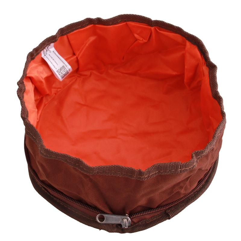 1pc Pet Dog Cat Collapsible Foldable Travel Camping Food Water Feeder Bowl Dish Oxford Fabric Dog Feeder ZQ874236