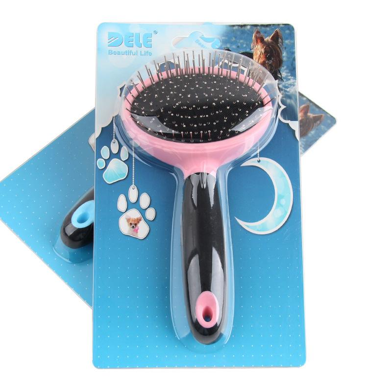 1pc Pet Dog Comb Long Hair Brush Plastic Handle Airbag Puppy Cat Massage Bath Brush Multifunction Pet Grooming Tool
