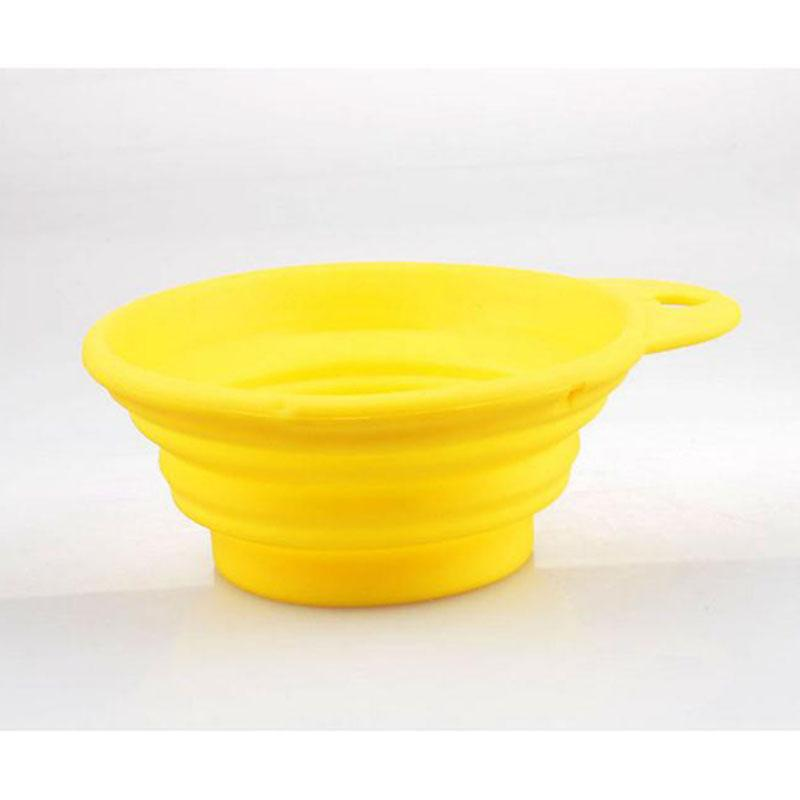 1pc Pet Dog Feed Bowl Portable Collapsible Travel Feeding Food Water Dish 2 Size Feeder  Products