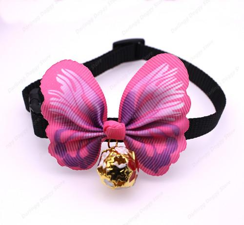 1pc Pet Puppy Dog Cat Collar&Bow ties Adjustable Butterfly with Colorful Bells Dog Cat Bowties Dog Accessories Pet Supplies