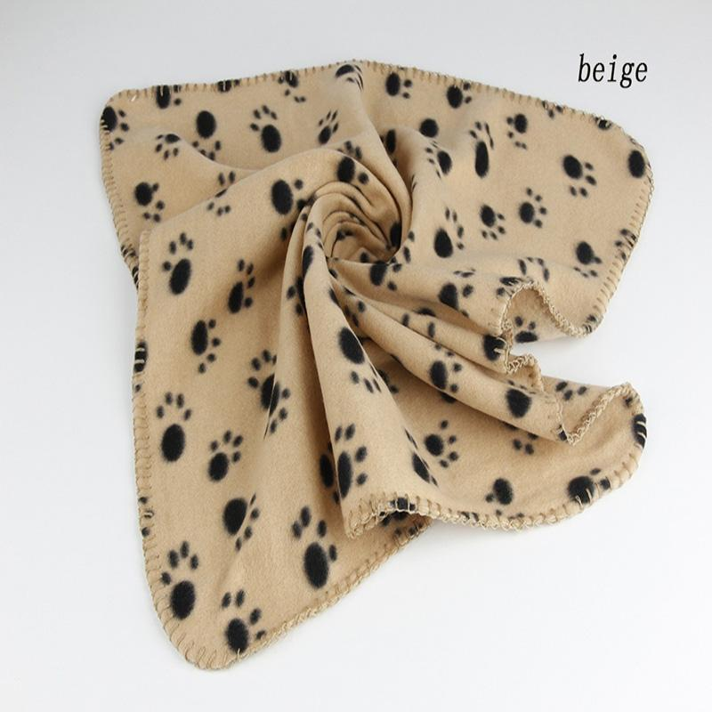 1pcs 60*70CM Paw Print Pet Cat Dog Cosy Fleece Soft Blanket Warm Bath Supplies Significant Mat Cover Household