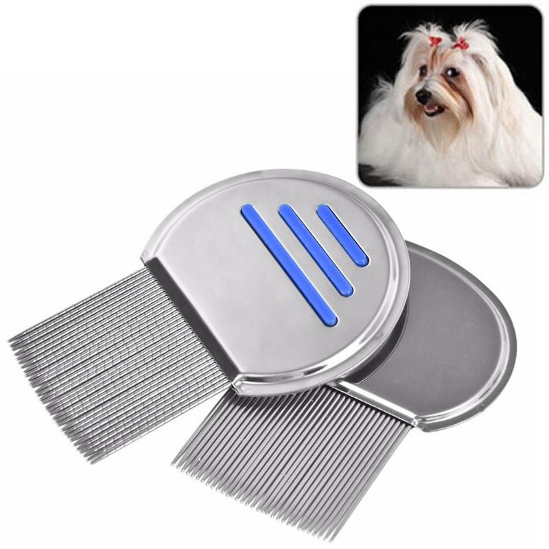 1pcs Pet Brush Durable Trimmer Grooming Steel Brush Comb Hair Shedding Flea For Pet Cat Dog Newest