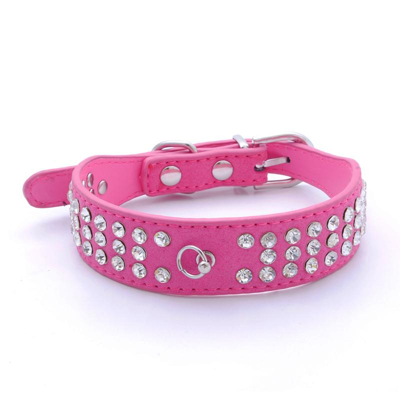 1pcs Pet Collar Bling Rhinestone Leather Crystal Diamond Puppy Pet Dog Collar Perros Pet Supplies Products Led Collar Dog Leash