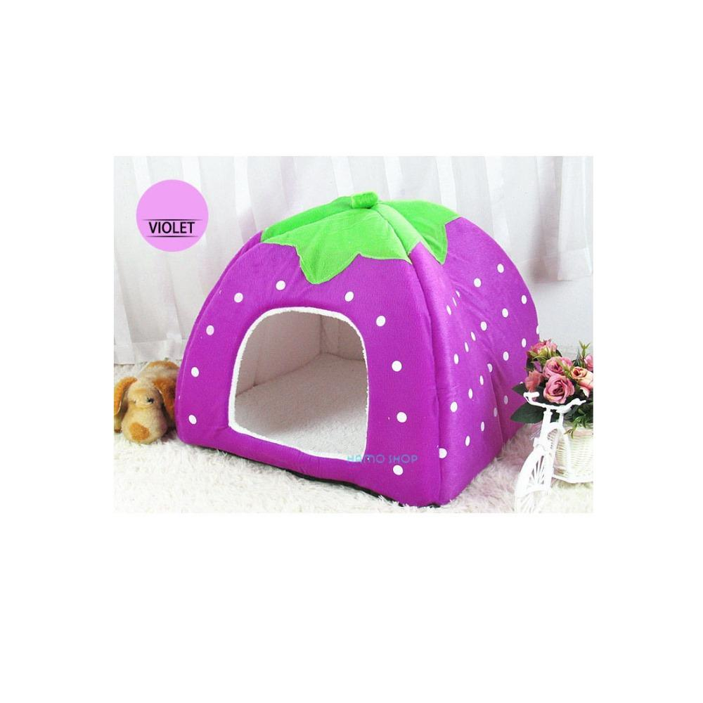 1pcs Pet Dog Cat Bed Warm Cushion House Basket Soft Strawberry Kennel Doggy Soft Bed New