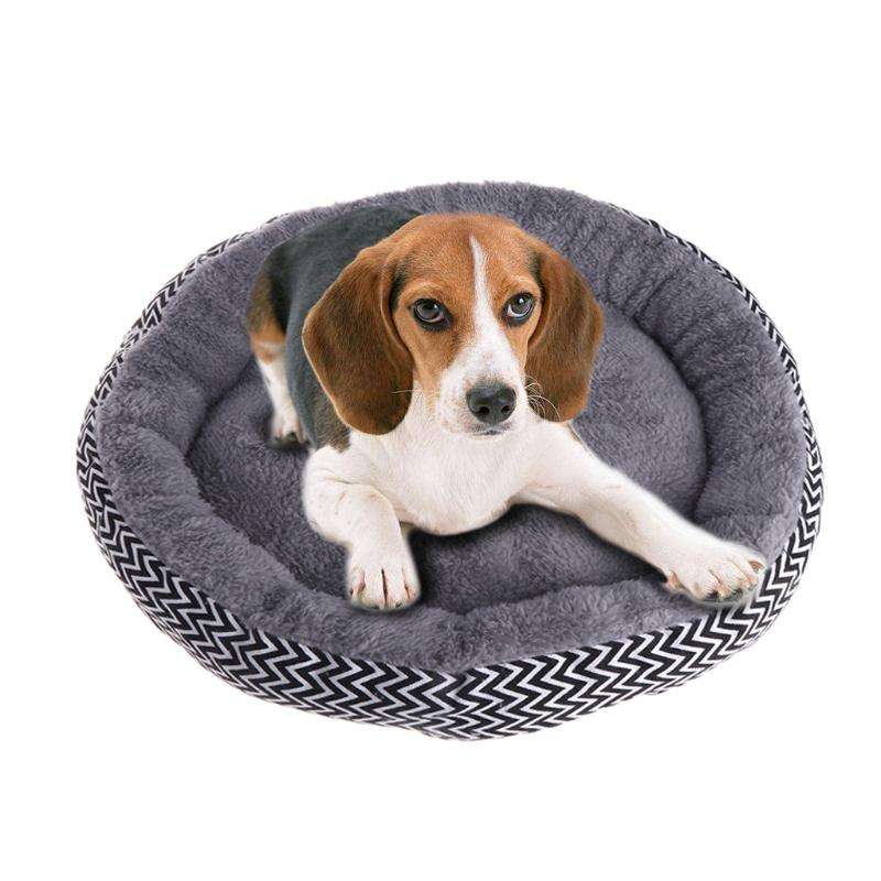 1pcs Pet Dogs Puppy Couch Round House Soft Bed Mat Indoor Cushion Sleep Pad Warm Sofa