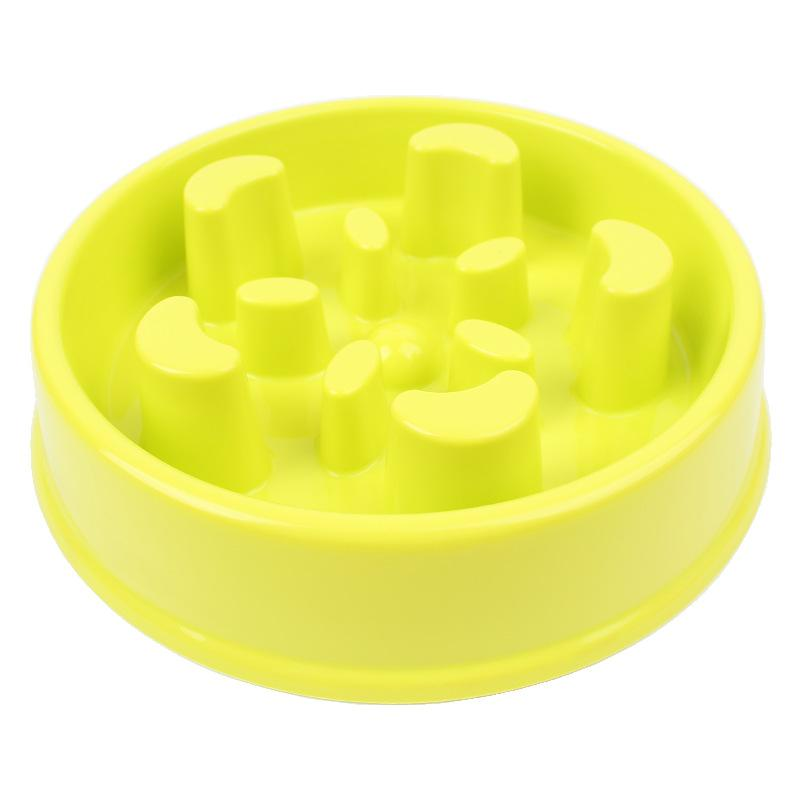 1pcs Plastic Slow Feeding Dog Bowl Pink Yellow Blue Against Choke Pet Dog Bowls Boutique Pet Accessories