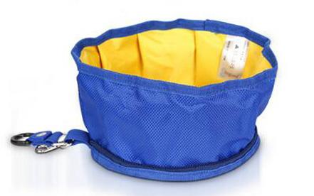1pcs Waterpoof Canvas Folding Collapsible Travel Food Water Bowl for Pet Dog Cats Bag Feeders