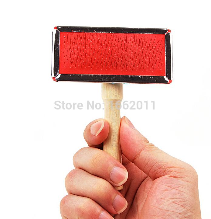 1piece dog Needle Comb Puppy Cat Hair Grooming Slicker Comb Gilling Brush  Quick Clean Tool Cat Combs With Wooden Handle 9*4.5cm