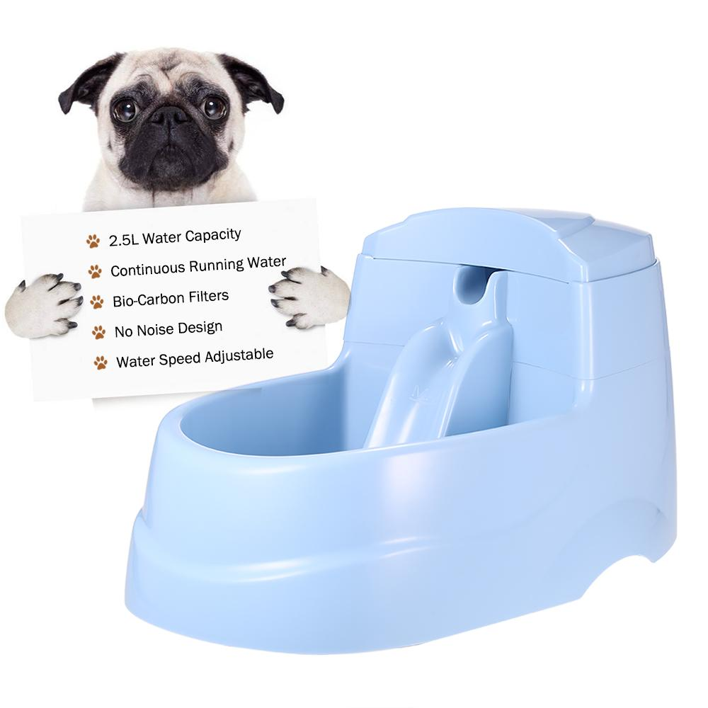 2.5L Electric Pet Drinking Fountain Bowl with Carbon Filters Automatic Cat Dog Fresh Running Water Dispenser Pet Watering Tools