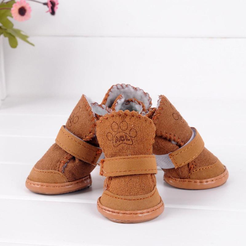 2 Color Small Dog Cat Pet Shoes Chihuahua Puppy Winter Warm Boots Shoes S-XXL Shoe For Dog Winter Dog Boots