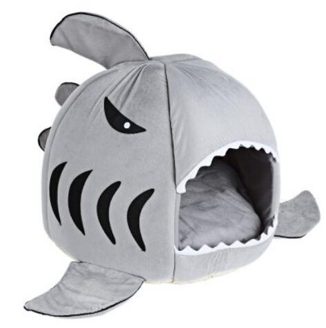 2 Colors Shark Shaped Dog House Cute Kennel Animal Cave Nest Soft Warm Bed For Small Medium Pets Dog Cat Puppy House Pet Product
