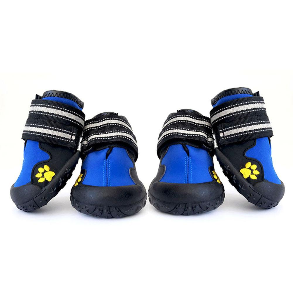 2 Pair Pet Large Dog Shoes Outdoor Rain Boots Non Slip Running Sneakers Waterpoof Boot Pets Accessories HG99