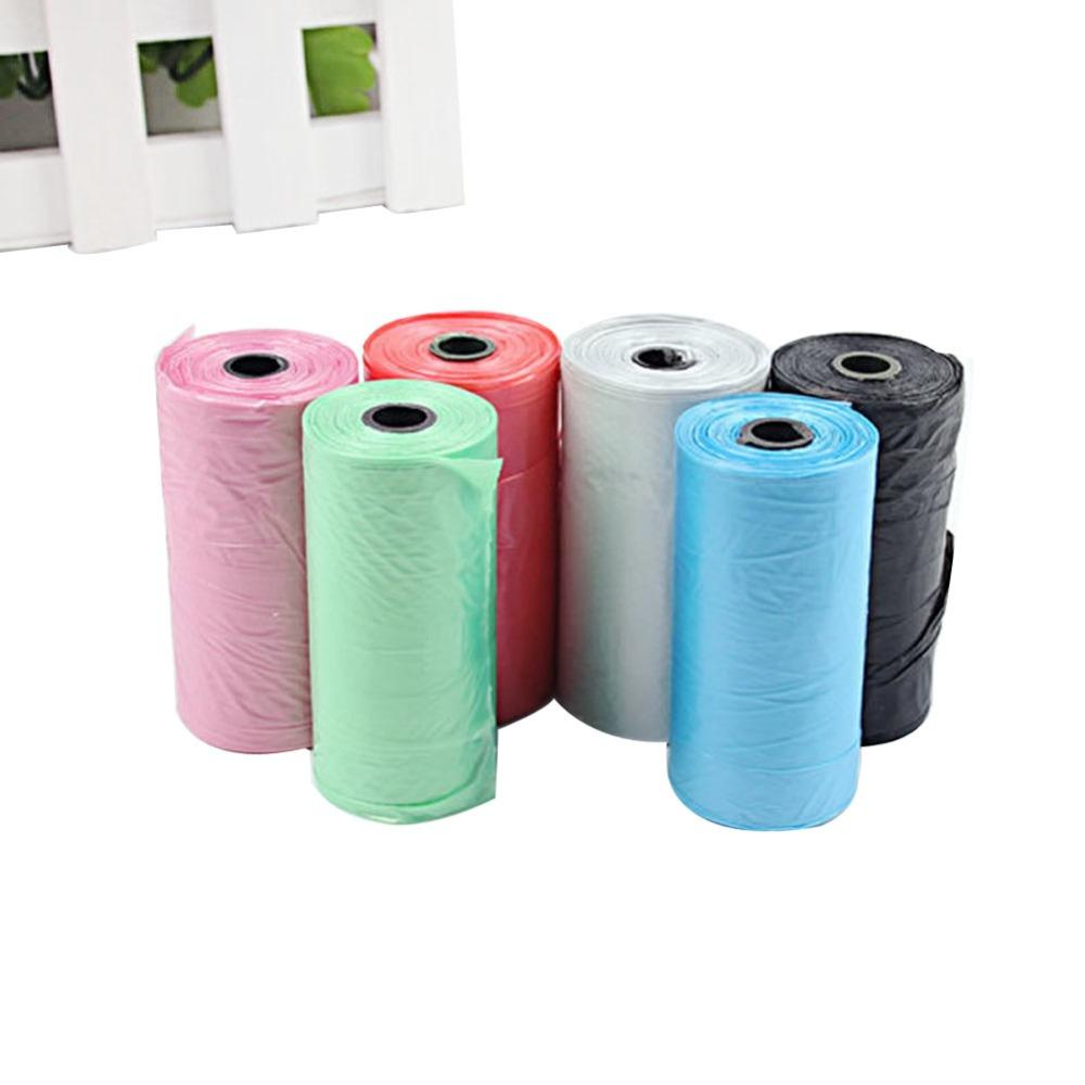 2 Roll Pet Dog Garbage Travel Clean-up Bag Pick Up Waste Poop Bag Refills Supply random color