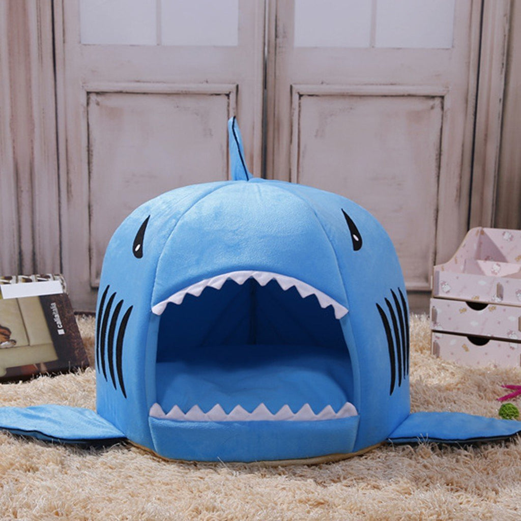 2 Size 2017 New Warm Soft Dog House Pet Sleeping Bag Shark Shape Dog Beds  Dog Kennel Beds For Cat House Nest Mat Pet Products