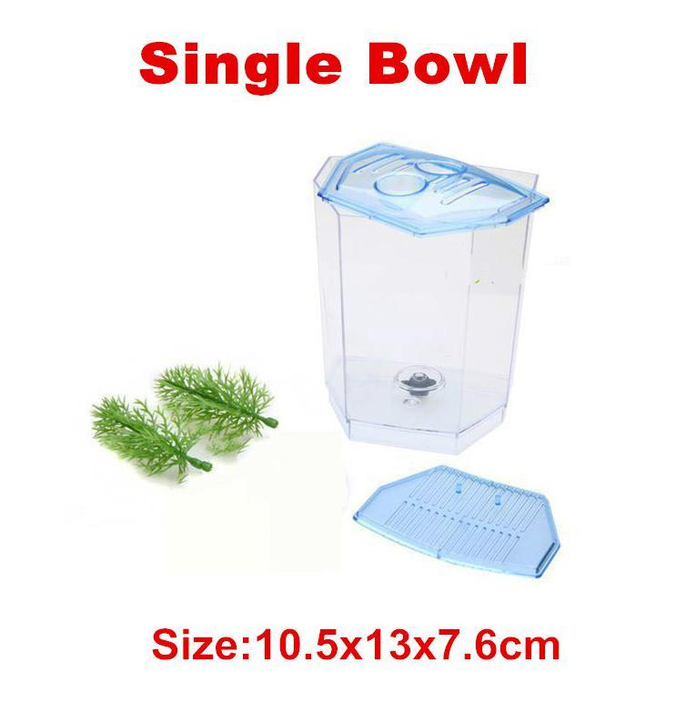 2 Size Acrylic Aquarium Betta-fish Tank Mini Incubator Fishbowl For Fry Isolation Hatchery Guppy Fish Reptile Cage Turtle House
