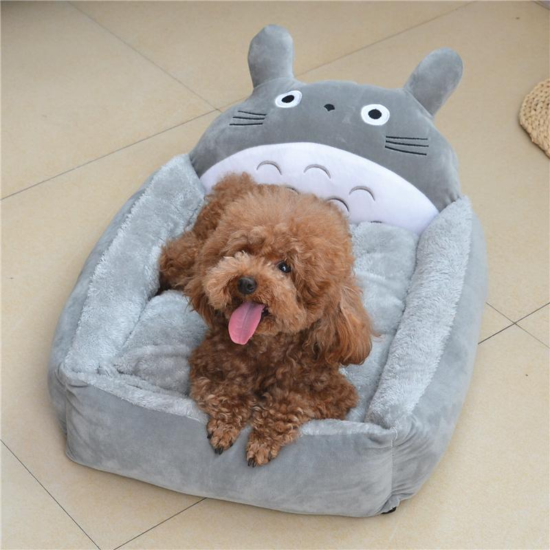 2 Size Totoro Pet Warm Soft Dog Cat House Supply For Dog/Cat Rabbit Bed  Pet Sleep Bad For Dog And Cat Small Pet dog lounger