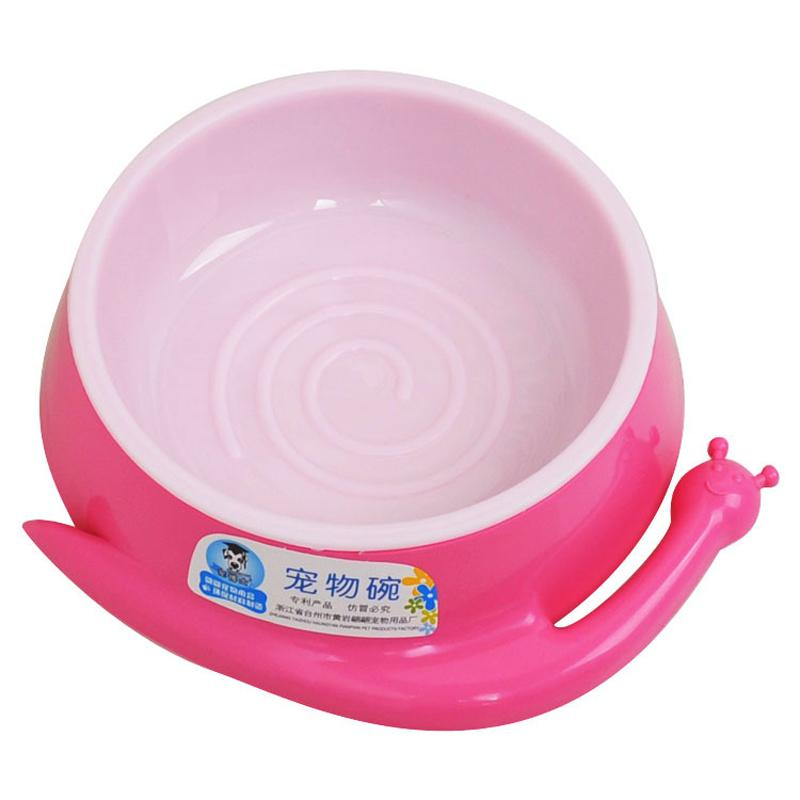 2 Size cartoon Animal shape Plastic Dog Feeding Bowl Cat Puppy Food Dish Pet Drink Water Bowl Eating Feeder Random Color