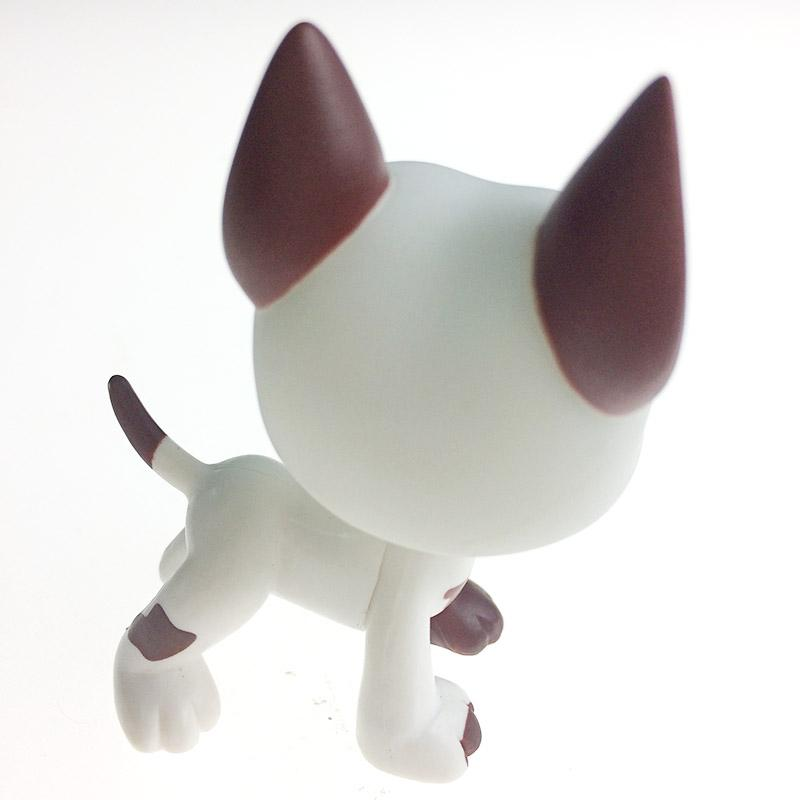 2 Types 5cm Lovely Pet Collection Action Figure Original LPS White Cute Dog Puppy Dot Eyes Kids Gifts With Opp Bag