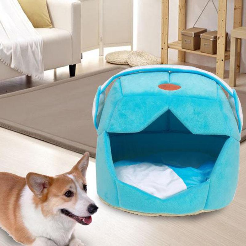 2 Uses Foldable Soft Warm Cat Dog Bed House Pet Cave Puppy Sleeping Mat Pad Nest Pet Beds Dog Blanket Animal Sleep Kennel