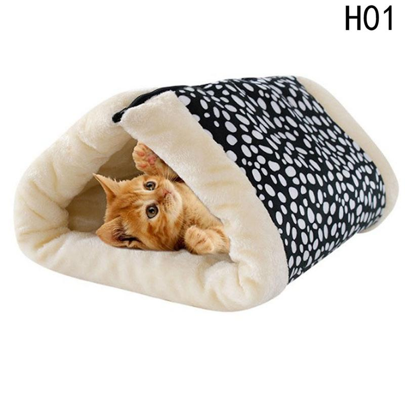 2 in 1 Cats House Removable Sleeping Mats Warm Home Houses Cats Litter Soft Small Dog Kennel Cat Tunnel Mat Cushion Pet Supplies