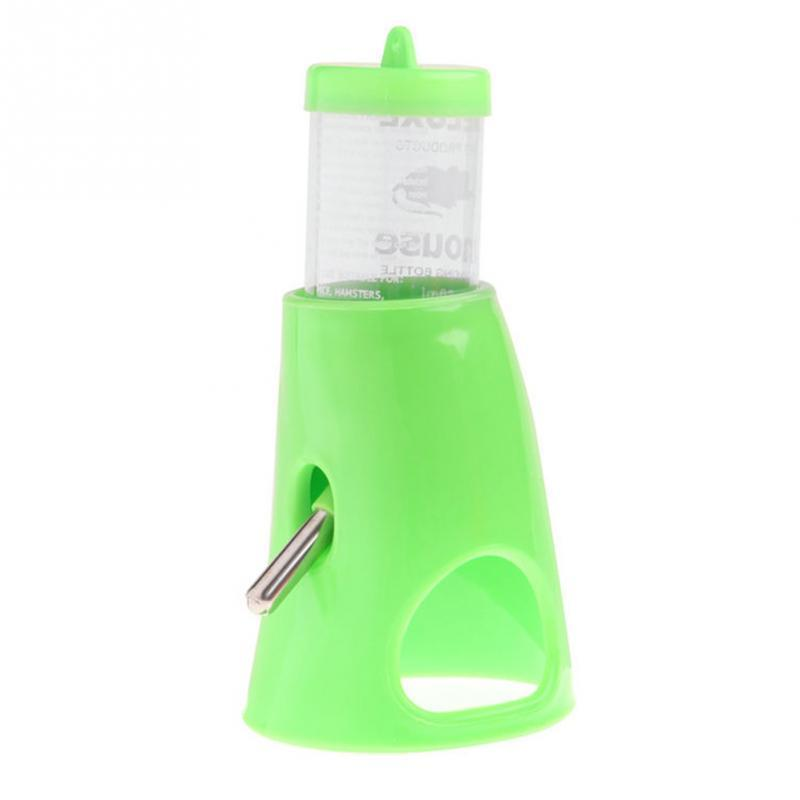 2 in 1 Hamster Water Bottle Holder 80ML Dispenser With Base Hut Small Pet Nest Professional Hamsters Feeding Tool