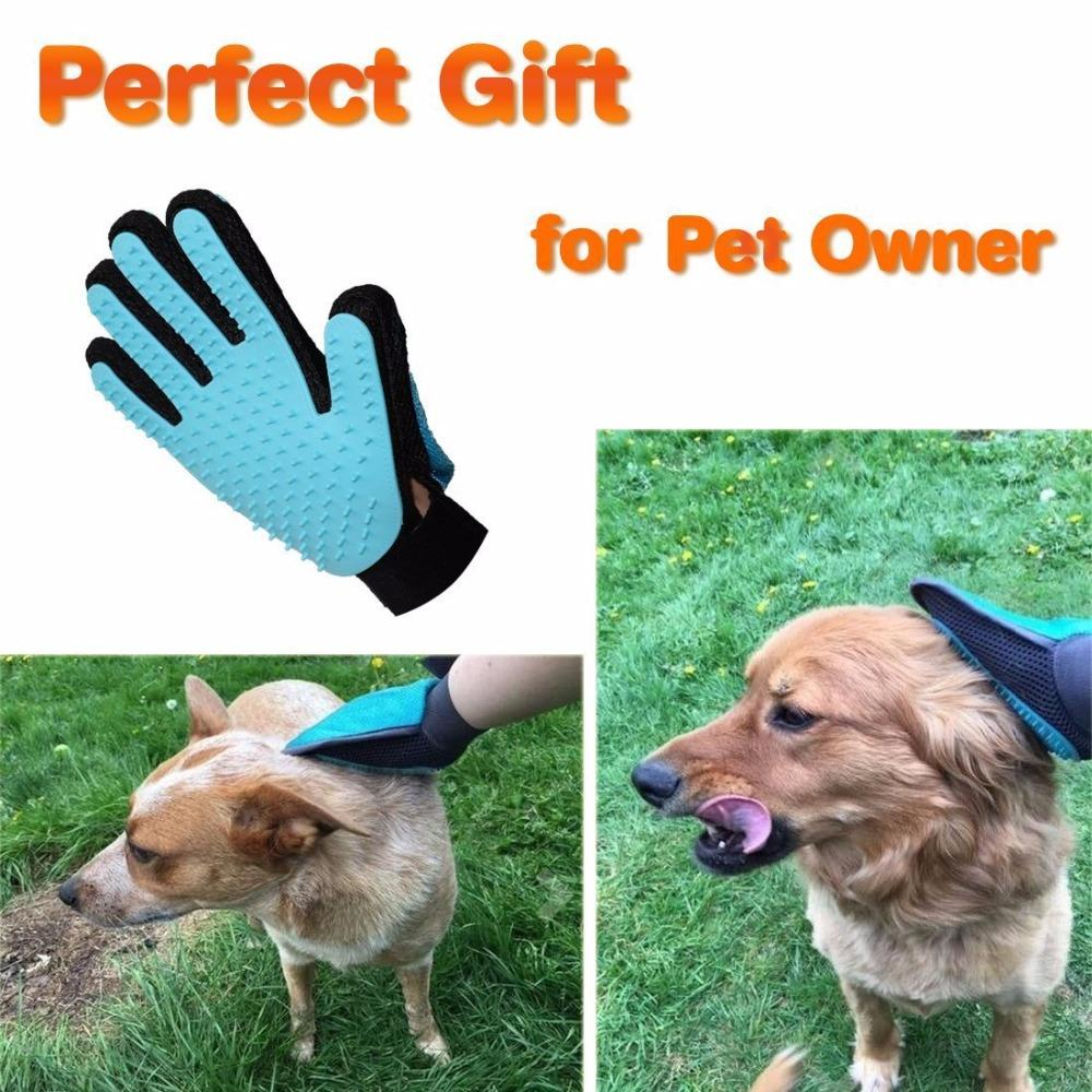 2 in 1 Silicone Pet Grooming Brush For Dogs Cats Puppy Bathing Cleaning Massage Hair Removal Tool Dog Glove Pet Products