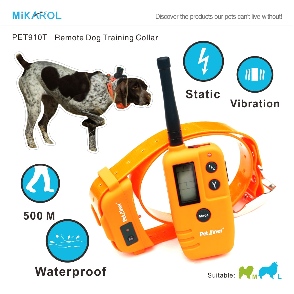 2 in 1 dog no bark collar shock pet electronic dog trainer barking dog training collar waterproof