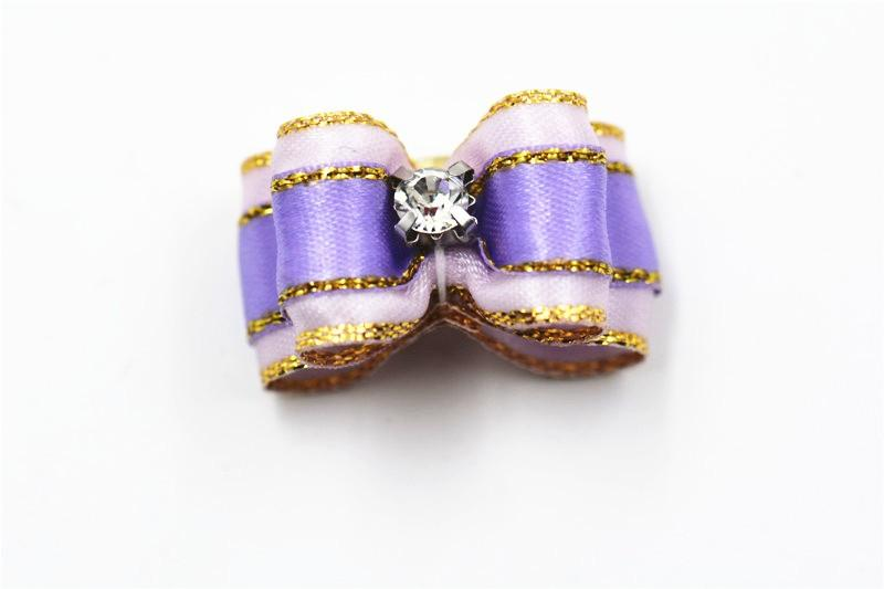 20/50/100pcs diamond bling style pet dog cat hair bows  pet hair accessories elastic bands candy color dog pet bows