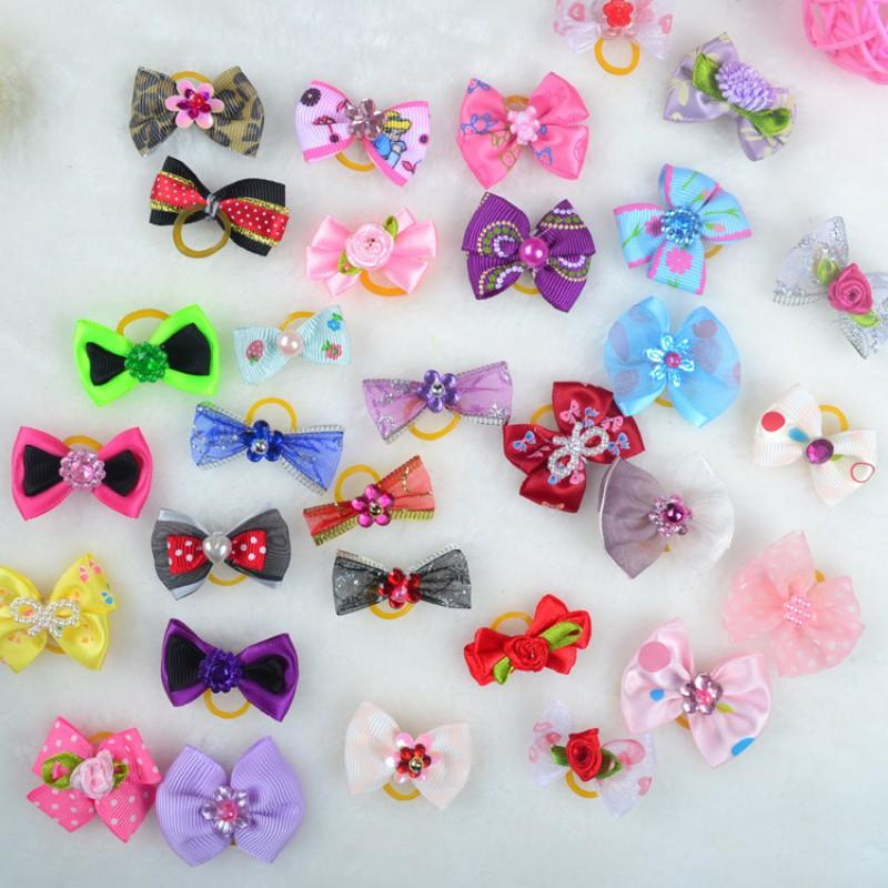 20 Pcs /50 Pcs /100/Pcs Handmade Pet Grooming Accessories Products Dog Bow  Hair Little Flower Bows For Dogs Charms Gift New