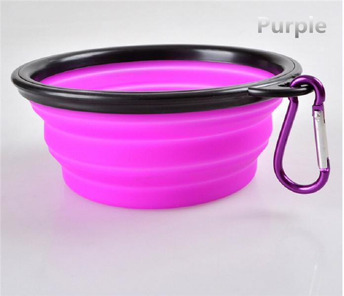 20% discount! pet dog puppy cat kitty bowl feeder dish water travel collapsible bowl