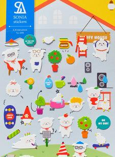 20 pcs /lot scrapbooking stickers post it stationery White dog house scrapbook 3D kawaii stickers/ Wholesale SONIA