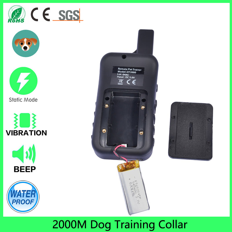 2000m dog training Collar Pet Yard & Park Rechargeable Dog Training Collar